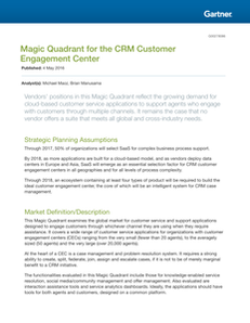 Magic Quadrant for the CRM Customer Engagement Center