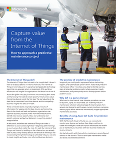 Capture Value from the Internet of Things: How to Approach a Predictive Maintenance Project