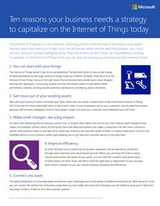 Ten Reasons Your Business Needs a Strategy to Capitalize on the Internet of Things Today
