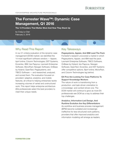 The Forrester Wave: Dynamic Case Management, Q1 2016