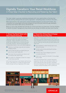 A 3-Step Checklist to Recruiting and Retaining Top Retail Talent