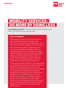 Mobility Services: Do More By Doing Less