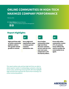 Online Communities in High-Tech Maximize Company Performance