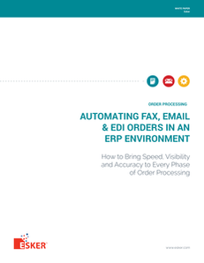 Automating Fax, Email and EDI Orders into ERP Systems