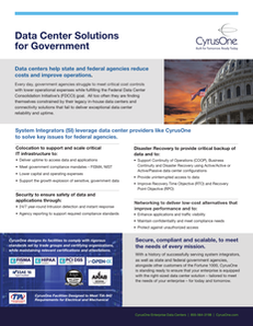 Data Center Solutions for Government
