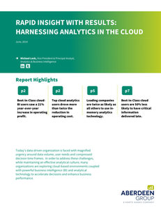 Rapid Insight with Results: Harnessing Analytics in the Cloud