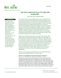 Mint Jutras Executive Summary – Cloud ERP: The Great Enabler of Growth