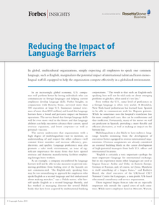 Forbes Insights: Reducing the Impact of Language Barriers