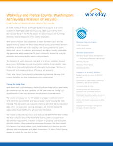 Workday and Pierce County, Washington: Achieving a Mission of Service