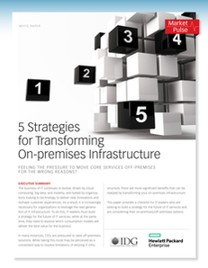 5 Strategies for Transforming On-premises Infrastructure