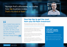 4 Tips to Increase Cost-Efficiency from All-Flash Investments