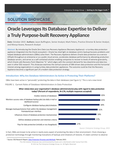 Oracle Leverages Its Database Expertise to Deliver a Truly Purpose-built Recovery Appliance
