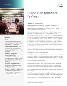 Solution Brief: Cisco Ransomware Defense
