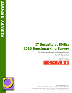 IT Security at SMBs: 2016 Benchmarking Survey