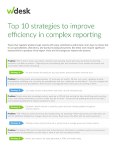 10 strategies to start improving efficiency in your complex reporting