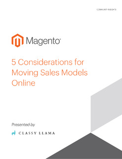 5 Considerations for Moving Sales Models Online