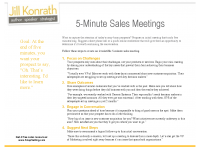 5 Minute Sales Meeting