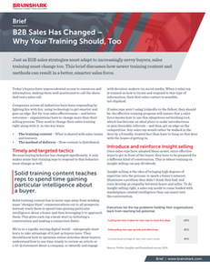 B2B Sales Has Changed – Why Your Training Should, Too
