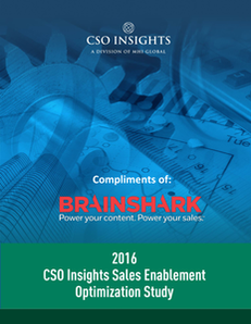 CSO Insights: 2016 Sales Enablement Optimization Study