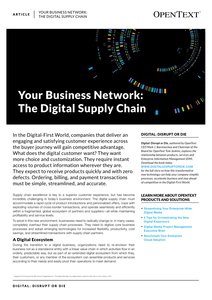 Your Business Network: the Digital Supply Chain