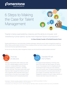 6 Steps to Making the Case for Talent Management
