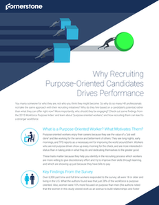Why Recruiting Purpose-Oriented Candidates Drives Performance