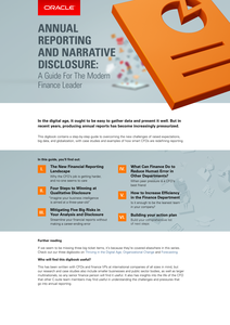ANNUAL REPORTING AND NARRATIVE DISCLOSURE:A Guide for Modern Finance Leaders