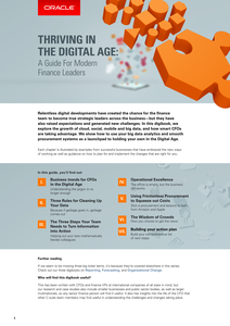 THRIVING IN THE DIGITAL AGE: A Guide for Modern Finance Leaders