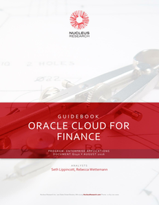 Nucleus Research Guidebook on Oracle Cloud for Finance
