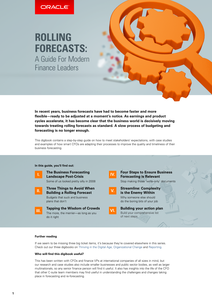 ROLLING FORECASTS: A Guide For Modern Finance Leaders