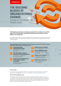 THE BUILDING BLOCKS OF ORGANIZATIONAL CHANGE: A Guide For The Modern Finance Leader