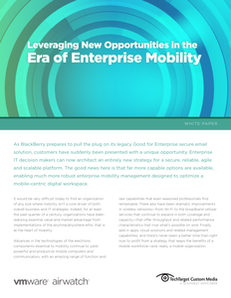 Leveraging New Opportunities in the Era of Enterprise Mobility
