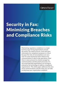 Security in Fax: Minimizing Breaches and Compliance Risks