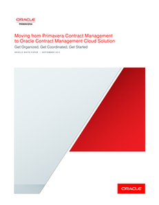 Moving to Oracle Contract Management Cloud Solution