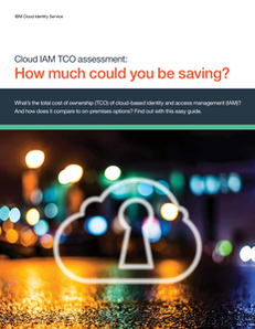 Cloud IAM TCO Assessment: How much could you be saving?