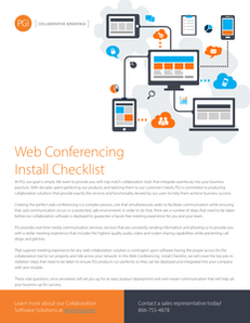 Web Conferencing Install Checklist: 7 Key Questions to Ask Before You Implement