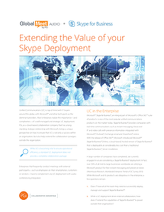 Extending the Value of Your Skype for Business ® Deployment