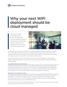 Why your next WiFi deployment should be cloud managed