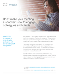 Don't Make Your Meeting a Snoozer: How to Engage Colleagues and Clients