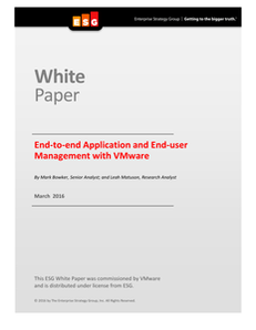 End-to-end Application and End-user Management with VMware