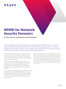 NPMD for Network Security Forensics