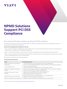 NPMD Solutions Support PCI DSS Compliance