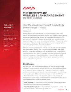 The Benefits of Wireless LAN Management in the Cloud