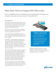 News Flash: The Era of Legacy PCIe SSDs is Over
