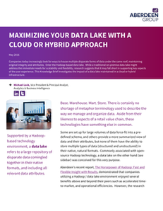 Maximizing your Data Lake with a Cloud or Hybrid Approach