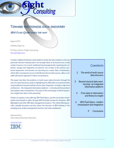 Toward frictionless data discovery: IBM Fluid Query eases the way