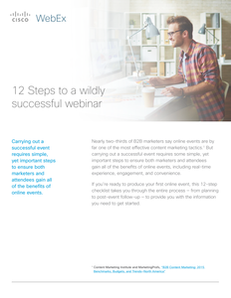 12 Steps to a Wildly Successful Webinar