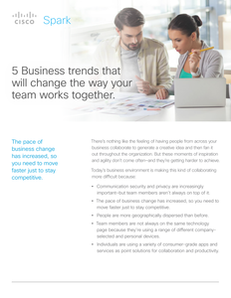 5 Business Trends That Will Change the Way Your Team Works Together