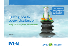 Quick Guide to Power Distribution Bring Peace to Your IT Environment