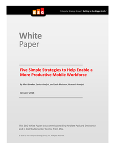 Five Simple Strategies to Help Enable a More Productive Mobile Workforce